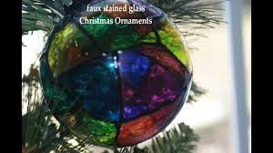 diy faux stained glass ornaments youtube