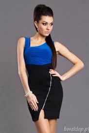 Blue dress   cleavage   Pinterest Pinterest Elegancka sukienka damska z modnym zdobieniem      Sukienki   http