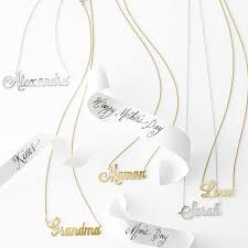 Personalized Script Necklace Sarah Chloe Ava Script Necklace Mark And Graham