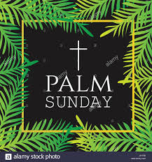 palm branches for palm sunday palm branches surrounding palm sunday text with cross easter