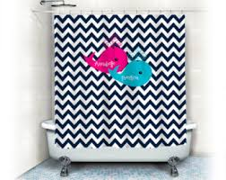 custom colors shower curtain chevron brown white pastel pink