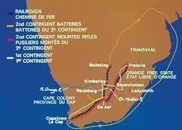 map of south africa warmuseum ca south war boer war maps