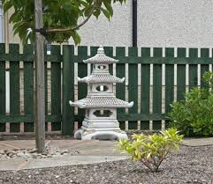 borderstone three tier pagoda garden ornament gardensite co uk