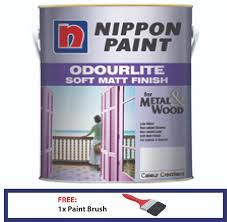 nippon paint odourlite soft matt finish 1l wood u0026 metal 11street