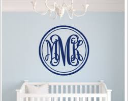 Personalized Wall Decals For Nursery Vine Monogram Wall Decal Room Wall Decor Vinyl Decal Sticker