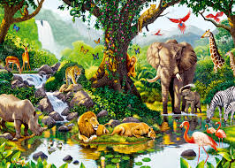 happy friday animals storytime abcs flannel friday a rumble in customer image gallery for nature s harmony jungle animals huge wall mural
