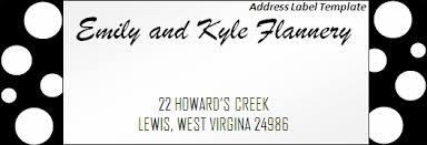 printable address label template