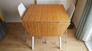 Ikea Drop Leaf Table Modern Bamboo Topped Drop Leaf Table With 2x Chairs Ikea Ps 2012