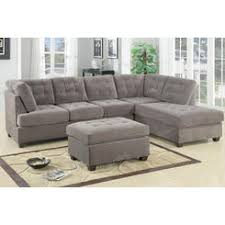 3 Pc Living Room Set Poundex Charcoal Grey Modern Sectional 3 Pc Living Room Set