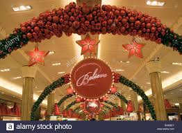 the macy u0027s christmas believe store decorations stock photo