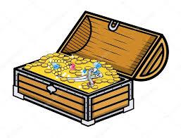 treasure box cartoon vector illustration u2014 stock vector baavli