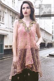 latest party wear pink shirt u0026 embroidered sharara