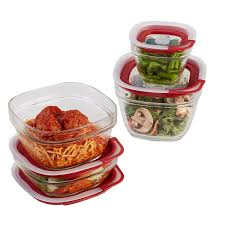 Food Storage Glass Containers Amazon Com Rubbermaid Easy Find Lids 8 Piece Glass Food Storage