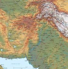 South Asia Physical Map by Physical Map Of Afghanistan