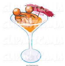 martini glass with umbrella royalty free drink stock designs