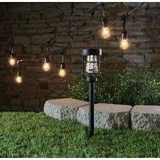 Halloween Pathway Lights Living Accents Solar Powered Led Pathway Light Black 6 Pk