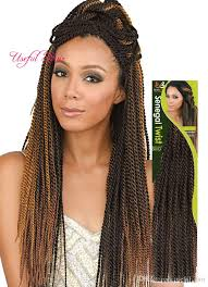 ombre senegalese twists braiding hair marley ombre blonde 18 senegalese twist crochet braids hair head