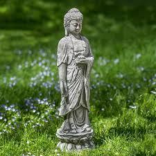 standing lotus buddha statue
