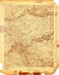 Topographic Map Usa by Yosemite Topographic Map 1897