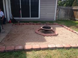 our backyard fire pit diy tilled the grass layer of weed stop