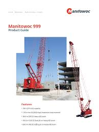999 product guide crane machine transmission mechanics