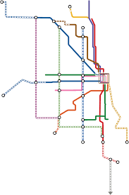 Metro Map Chicago by Transit Future