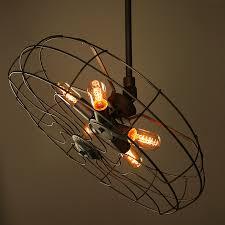 Hanging Edison Bulb Chandelier Industrial Vintage Pendant Lamp Creative Retro Edison Bulb Hanging