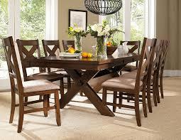 amazon com powell 713 417m3 9 piece wooden kraven dining set