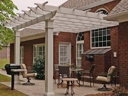 arbors direct fiberglass square column pergola attached to house