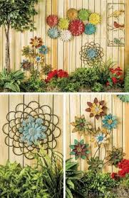 decorating a garden fence love this idea very much wall art