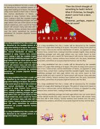 christmas newsletter template download create edit fill and print