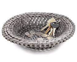 12 super cool recycled home decor ideas eluxe magazine bike chain bowl holder