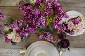entertaining lilacs roses u0026 purple cabbage table setting