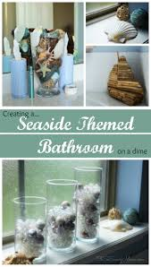 how to create a seaside themed bathroom on a dime oh so savvy mom