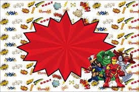 marvel superheroes squad free printable invitations is it for