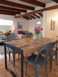photos chic open dining room with industrial table chairs hotel