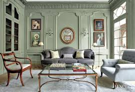 Living Rooms With Gray Sofas Traditional Green Living Room With Charcoal Gray Sofa Luxe