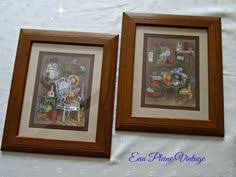 home interiors and gifts framed art baskets flowers and butterflies framed art print vintage homco