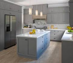 grey kitchen cabinets wood floor shop in stock kitchen cabinets at lowe s