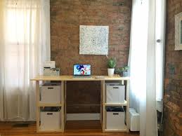 Building A Wooden Desktop by 13 Free Diy Desk Plans You Can Build Today