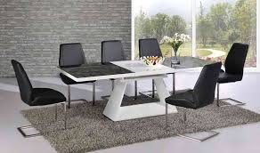 Dining Room Sets Glass Table by Black Glass Extending Dining Table White High Gloss Extending