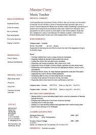 Kindergarten Teacher Resume Job Description by Music Teacher Cv Template Job Description Resume Curriculum