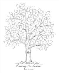 items similar to hand sketched wedding tree black and white
