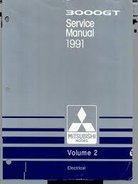 1991 servicemanual mitsubishi 3000gt motor oil internal