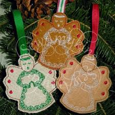 gingerbread ornaments gingerbread cookie christmas ornaments machine embroidery designs