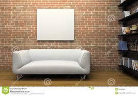 modern interior with brick wall royalty free stock photo image