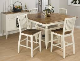 inspiration set of 4 white dining chairs with additional round