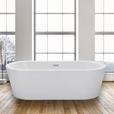 Types Of Bathtub Materials Woodbridgebath Woodbridge Acrylic 67 U201d Freestanding Bathtub