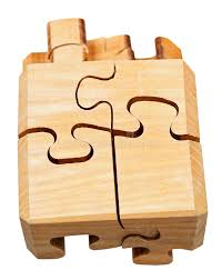 three dimensional wood mechanical puzzle stock photo image 37887276