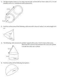 surface area worksheets worksheets